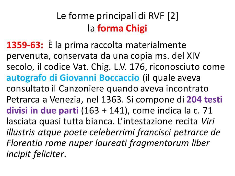 Le forme principali di RVF [2] la forma Chigi